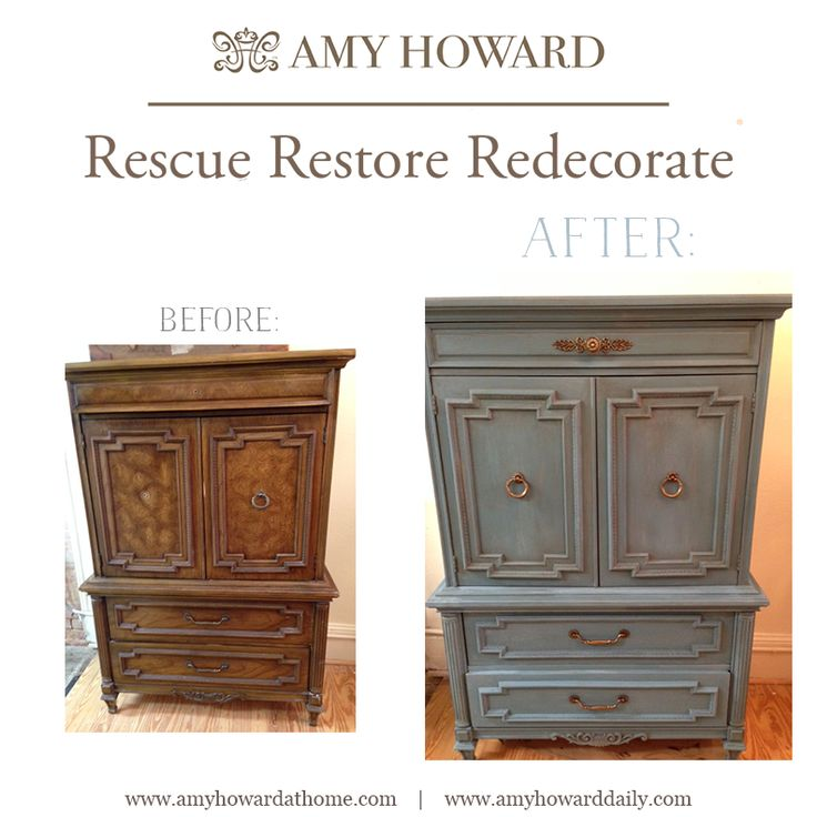 Before And After Using The Amy Howard At Home Vintage Affliction One Step Paint