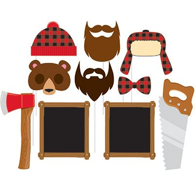 Canadian Lumberjack Photo Booth Props - 10pcs Party Supplies Canada - Open A Party