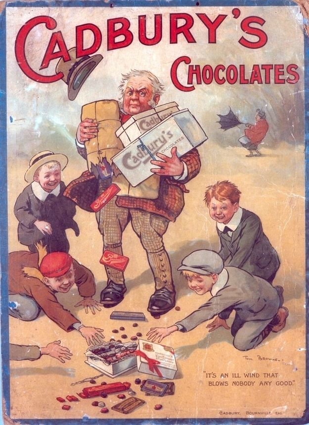 Vintage 1910 Cadbury chocolate ad.  Wow didn't know Cadbury was around that long!