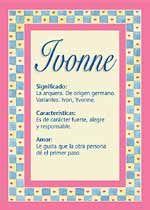 Origen y significado de Ivonne