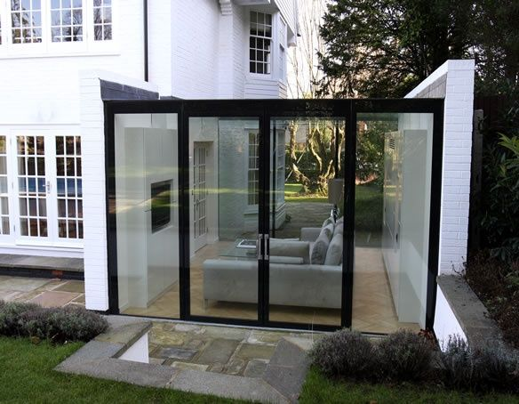 Frameless Glass Lean To Conservatory Hertfordshire