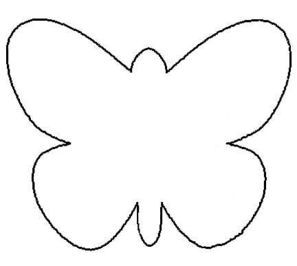 Photos bild galeria butterfly outline coloring pages for Butterfly template free