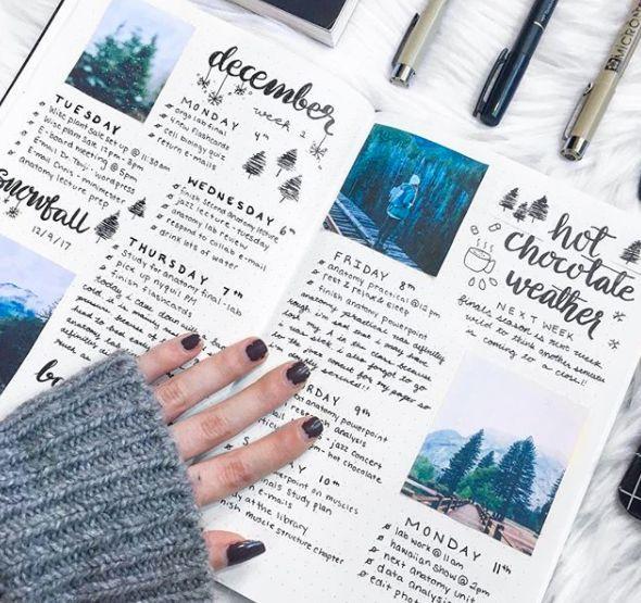 Bullet Journal wöchentliche verbreiten Ideen – Au…