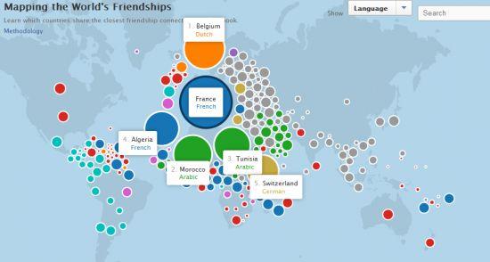 facebook stories / Carte du monde des amitiés Facebook #SocialMedia