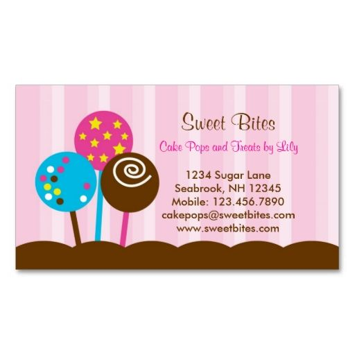 17 best images about bakery business cards on pinterest for Cake business card ideas