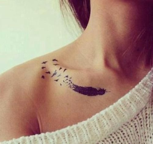 30 Collar Bone Tattoos Idea for Women and Girls | Tattoos Mob by dunaysid
