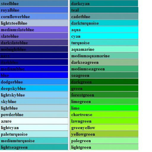 Amazing Green Color Types #10 - Blue Green Color Names