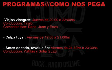 COMO NOS PEGA - ROCK . RADIO ONLINE