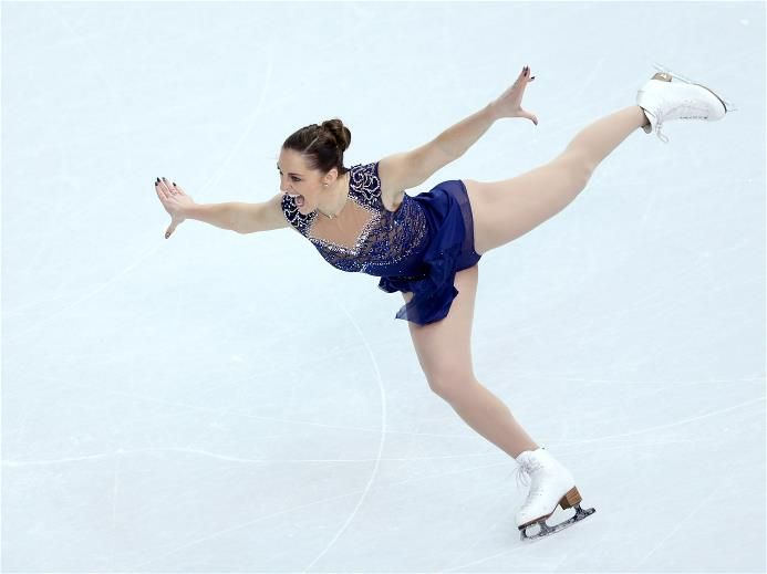 DAY 2:  Jenna McCorkell of Great Britain competes in the Figure Skating Team Ladies Short Program