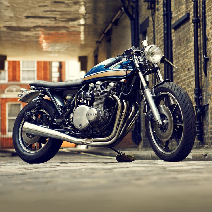 A Kawasaki KZ1000 cafe racer built by London-based Untitled Motorcycles. Follow Bike EXIF on Instagram for more daily eye candy: http://instagram.com/bikeexif