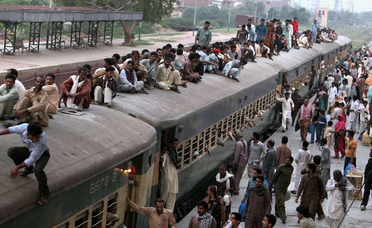 #Lahore : People ride on a crowded passenger train to reach their #villages and cities to #celebrate upcoming #Eid #al-#Fitr holiday marking the end of the #Islamic fasting month of #Ramadan, in Lahore, #Pakistan, Monday, July 4, 2016.AP/PTI #newsinimages #news #india #asia #photojournalism #Catchnews