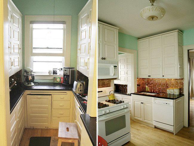 Antes y despues transformando la cocina sin cambiar los - Cambiar suelo cocina sin quitar muebles ...