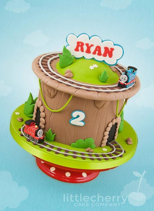 Two Tacks Thomas the Tank Engine Cake | by Little Cherry Cake Company