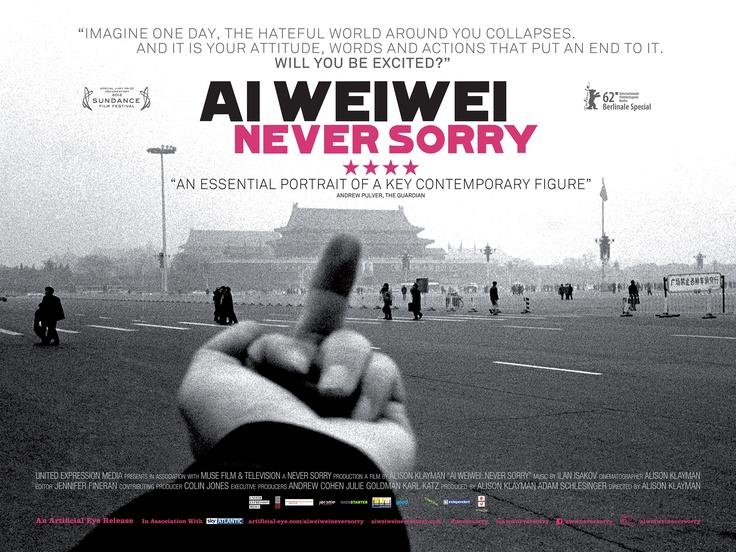 Ai Weiwei: Never Sorry UK poster