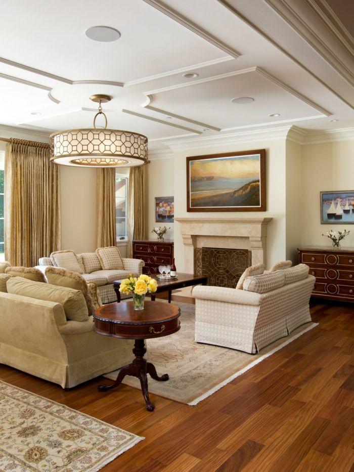 wohnzimmer gestalten zimmerdecken einrichtungstipps