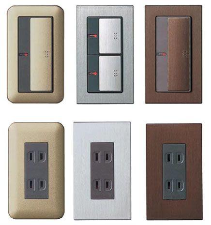 コンセント・スイッチの色:白以外の壁につける場合 : i+i
