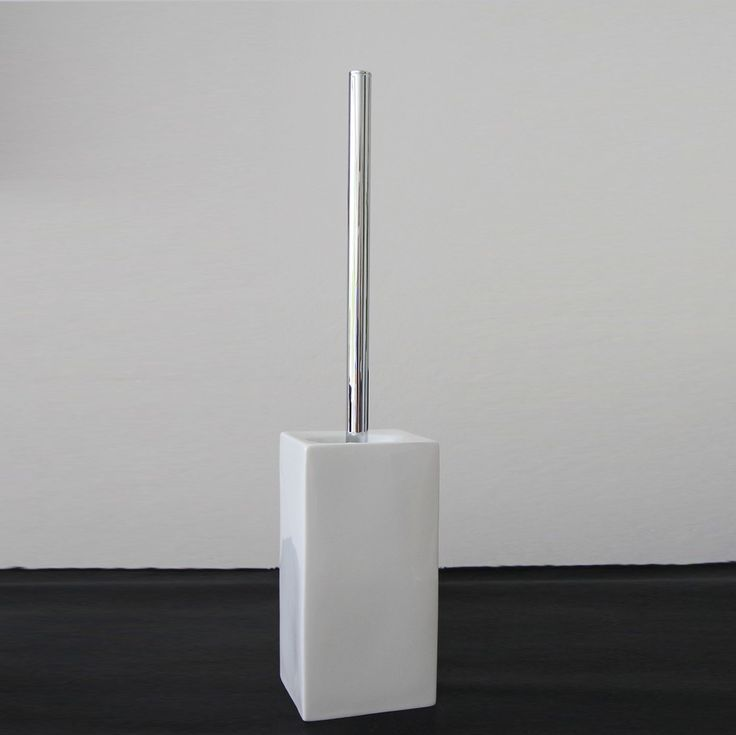 Toilet Brush Set Porcelain White Chrome Order One Now At 79 00 Free Accessories Onlinebathroom