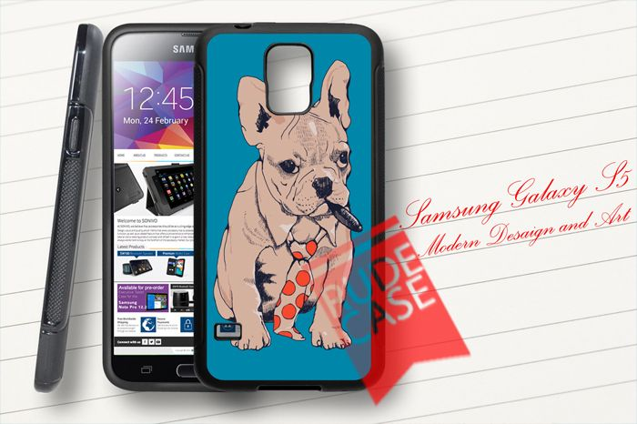 Samsung Galaxy S5 Custom French Bulldog Boss Rubber Case