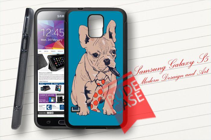 Samsung Galaxy S5 Custom French Bulldog Boss Rubber Case