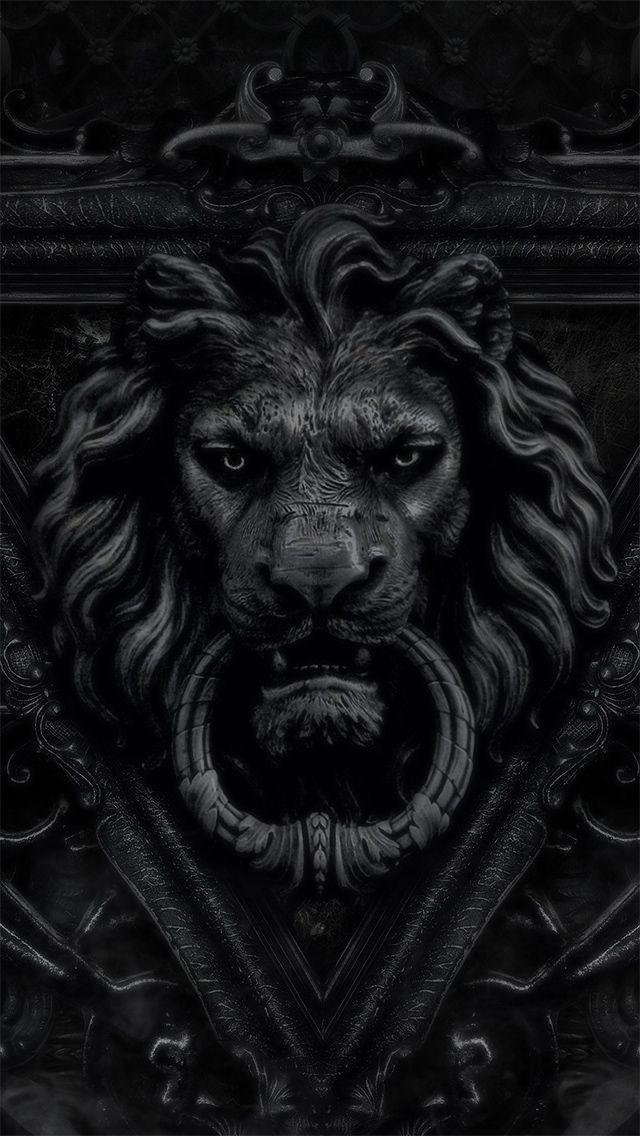 Lion door knocker