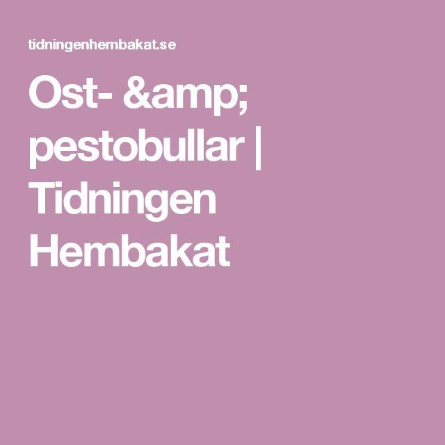 Ost- & pestobullar | Tidningen Hembakat