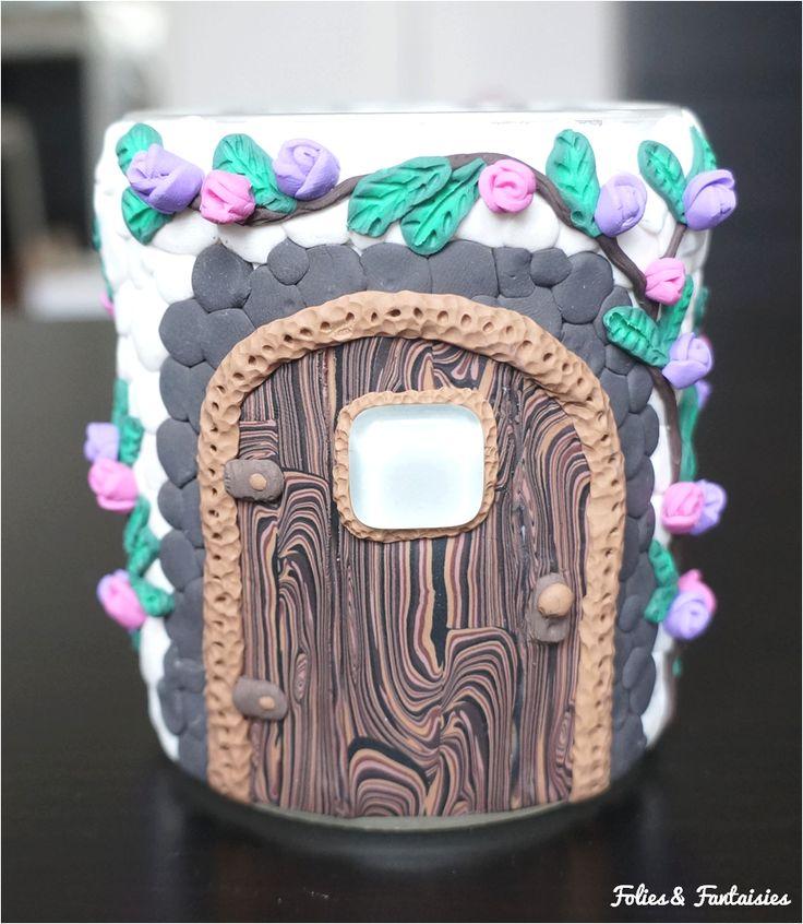 Polymer clay fantasy jar Folies & Fantaisies
