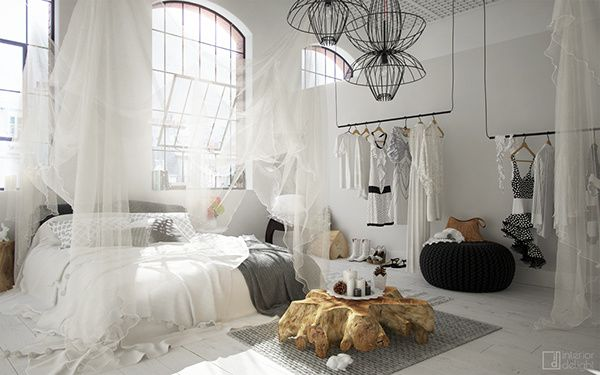 """Snow White"" bedroom styling"