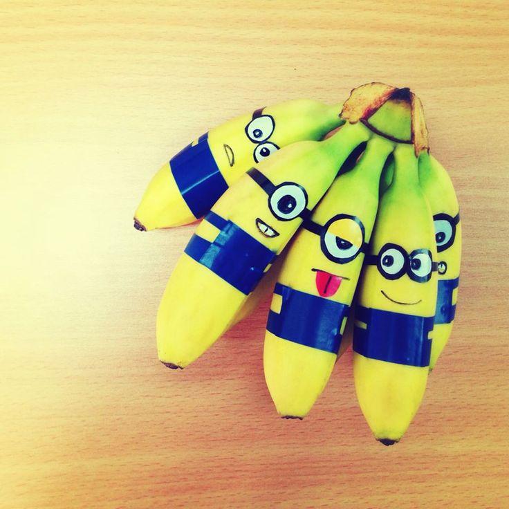 Banana - I bought mini bananas to make minions #banana #minions #despicableme