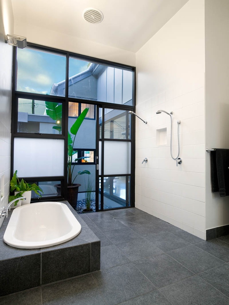 Composition of Black, White & Green - Westgrath Residence | Architecture Matters, Melbourne