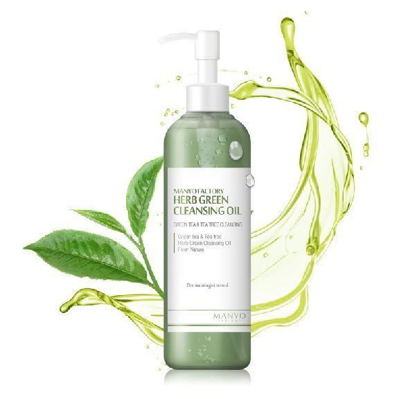 Manyo Factory Herb Green Cleansing Oil (200ml) Green tea Tea tree Deep Cleanser #ManyoFactory