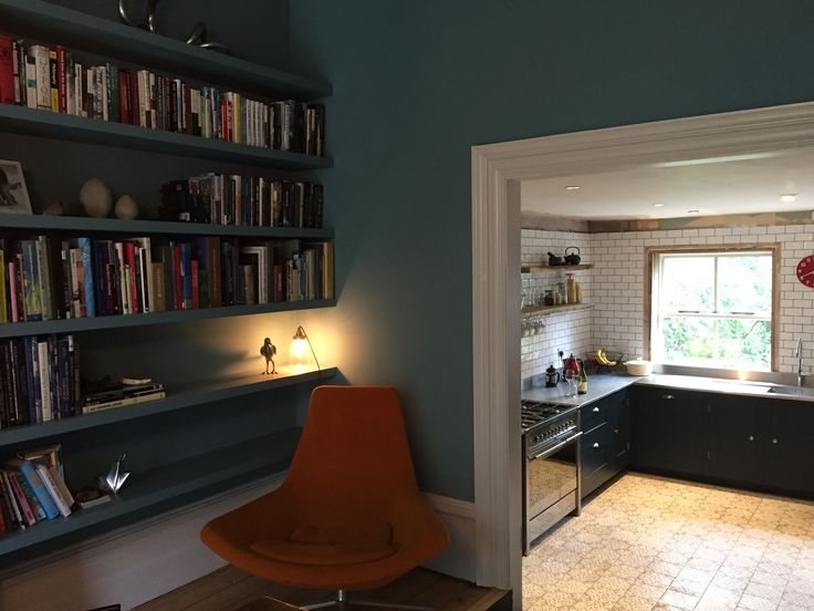 Farrow & Ball Stone Blue in the dining room