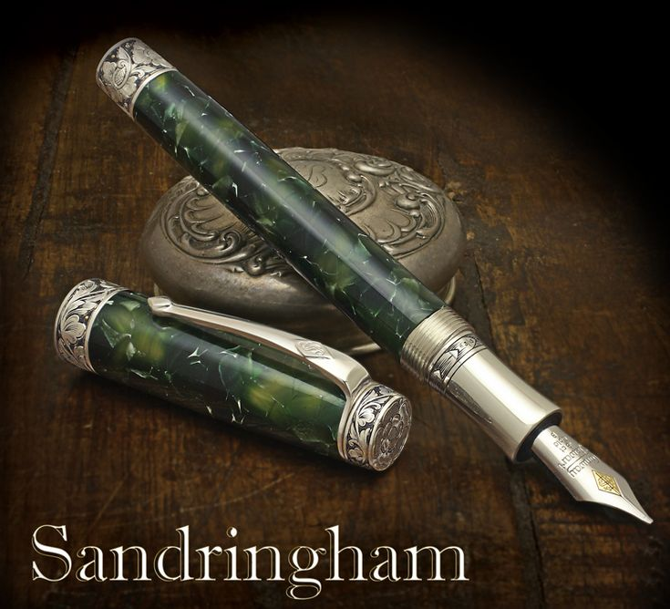 Conway Stewart The Sandringham Limited Edition. Inspired by the ornate decoration gracing the creations of English gunsmiths, the Sandringham is hand engraved by master engraver Marcus Hunt, who is considered by many to be one of England's premier engravers.