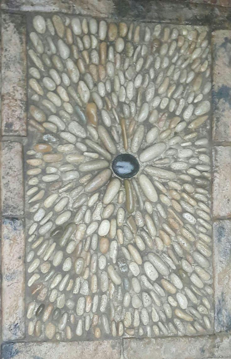 Pebble mosaics by SP Botha owner of Designer Gardens Landscaping www.designergardenlandscaping.co.za