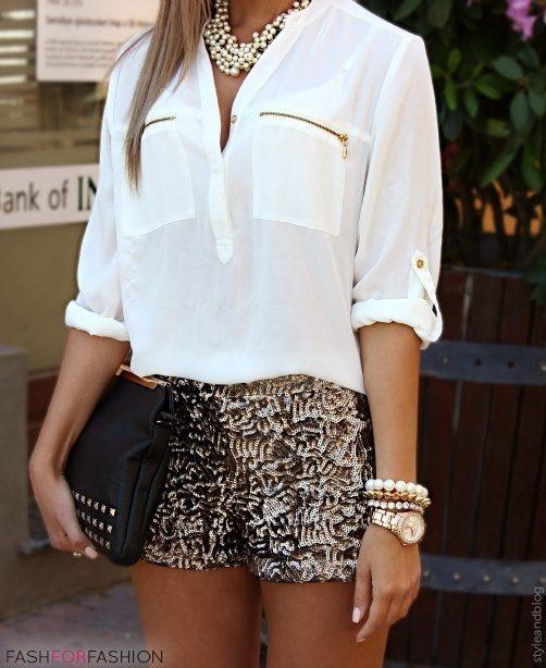 Love everything but the shorts maybe something similar like gold shorts or something