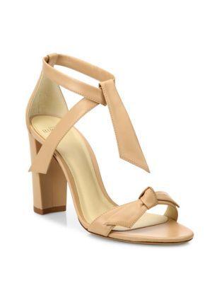ALEXANDRE BIRMAN Clarita Leather Block Heel Pumps. #alexandrebirman #shoes #pumps