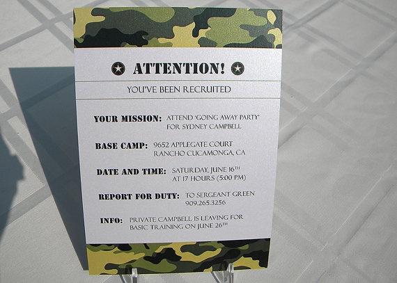 Army Camo Party Invitation