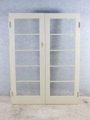 Art Deco Door Set Stock #6029 1520 w x 2015 h Hardwood frames Beautiful flemmish glass Parliament hinges $595