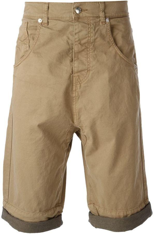 $234, McQ by Alexander McQueen Mcq Alexander Mcqueen Drop Crotch Shorts. Sold by farfetch.com. Click for more info: https://lookastic.com/men/shop_items/235054/redirect