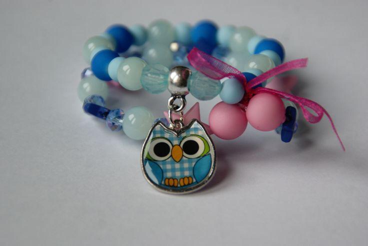 Leuke armband voor kinderen met een uil er aan.  https://www.facebook.com/lotenlynnlifestyle www.lotenlynn.nl
