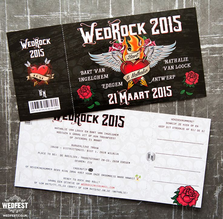 WEDROCK Rock and Roll Wedding Invites http://www.wedfest.co/wedrock-rock-n-roll-wedding-invites/