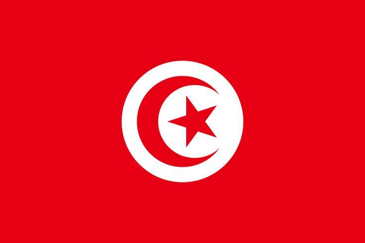Bandera de la República Tunecina.
