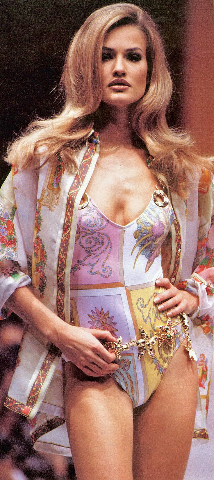 Karen Mulder for Versace (90s)