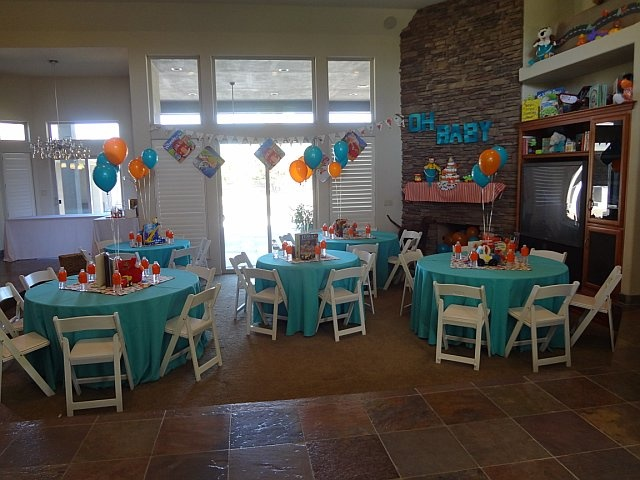 Teal and orange decorations party pinterest - Orange and teal decor ...