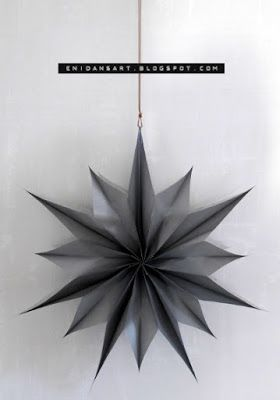 enidan's art: DIY ¦ papierstern