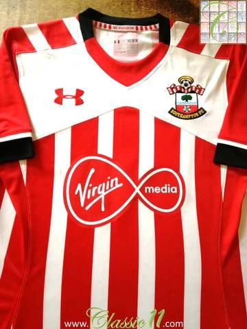52d9ed476 Official Under Armour Southampton home football shirt from the 2016/17  season.