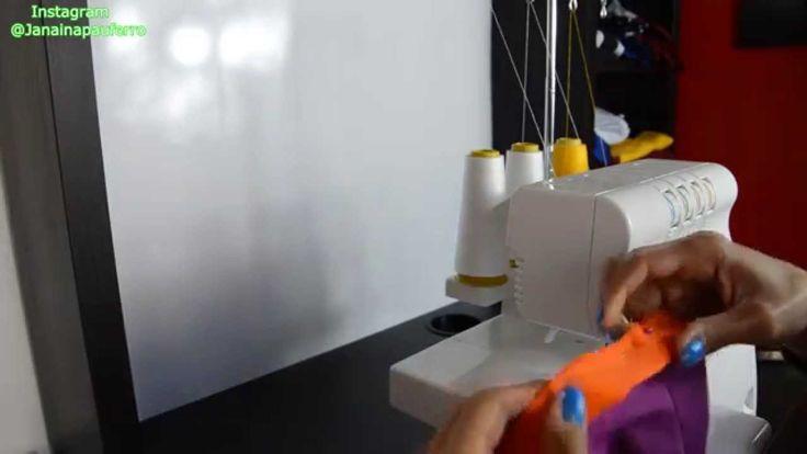 como costurar malha em maquina domestica (short fitness) por janaina pau...