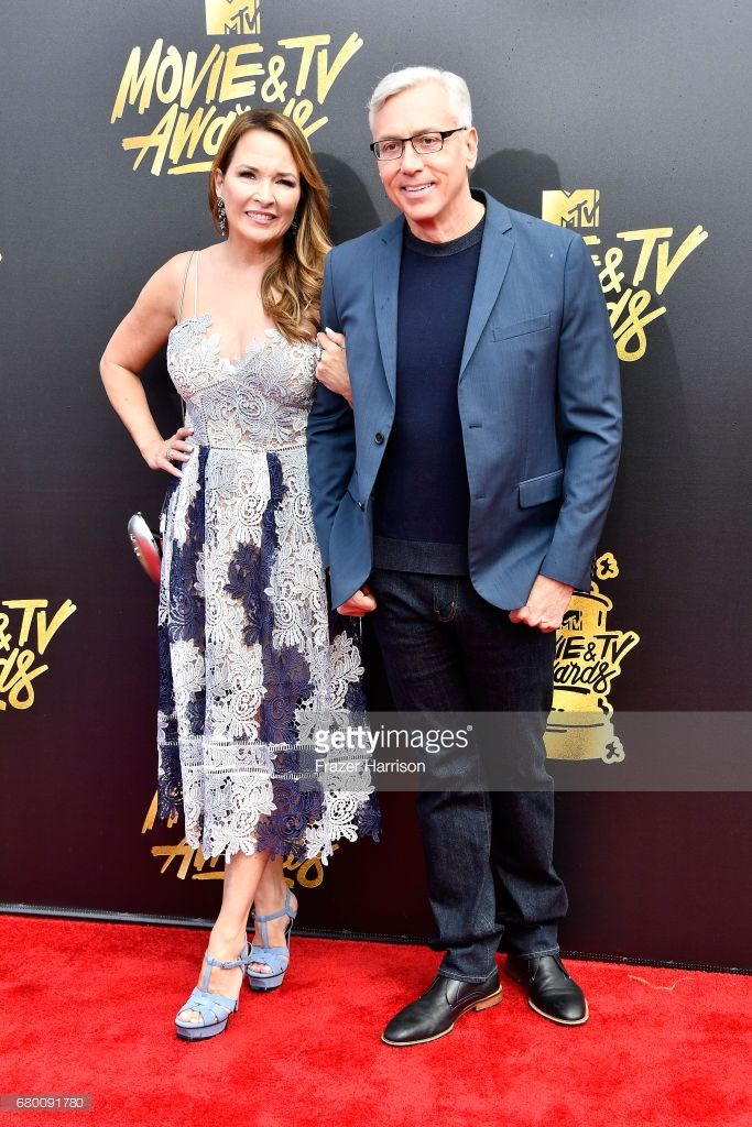 Susan Pinsky (L) and tv personality Dr. Drew Pinsky attend the 2017 MTV Movie And TV Awards at The Shrine Auditorium on May 7, 2017 in Los Angeles, California.