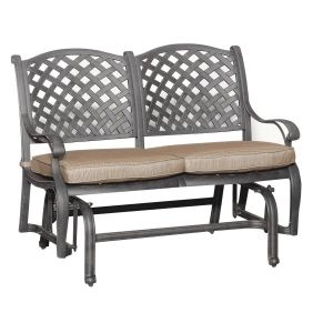 World Source Patio Glider Bench Outdoor Furniture