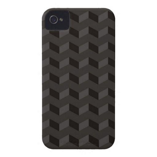 Aztec Chevron dark Pattern zigzag stripes iPhone 4 Cases