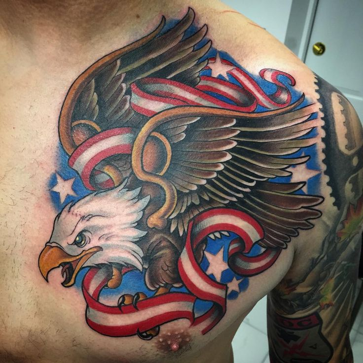 "@tonyciavarro ""Did this eagle yesterday one shot. @maximotattoocables @redemptiontattoocare @stencilstuff"""